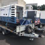 Stroomgeneratoren 100kva + 160kva op aanhangwagen